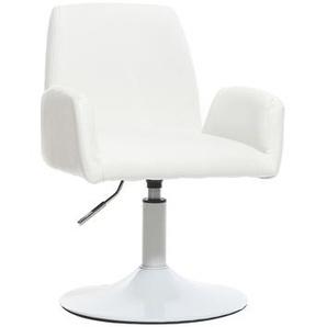 Design-Sessel drehbar PU Weiß SOLLY
