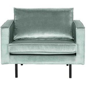 Design Sessel in Mintgr�n Samtbezug