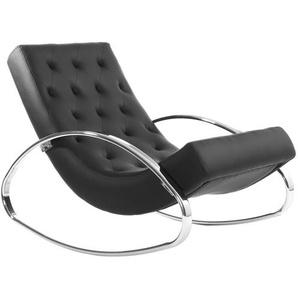 Design-Sessel Schaukelstuhl CHESTY Schwarz