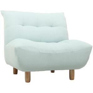 Design-Sessel skandinavisch Grün und Eiche YUMI