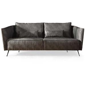 Design Sofa in Anthrazit Stoff Stahl