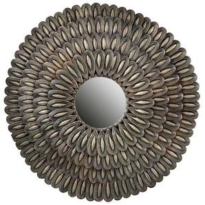 Design Spiegel in Altsilberfarben runden Metallrahmen (2er Set)