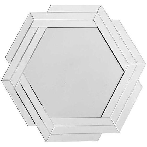 Design Spiegel mit Glasrahmen 80 cm breit
