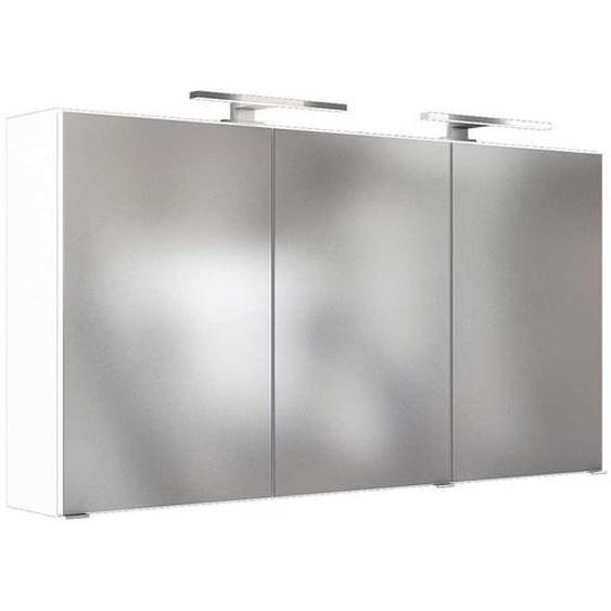 Design Spiegelschrank in Weiß 120 cm breit