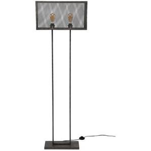 Design-Stehleuchte aus Metall Vintage perforiert 2 Lampen GITTER