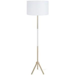 Design-Stehleuchte Dreifuß Holz Weiß ELIOT