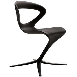 Design Stuhl in geschwungener Form Schwarz