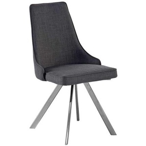 Design Stuhl in Grau modern (2er Set)