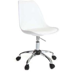 Design-Stuhl mit Rollen Weiß NEW STEEVY