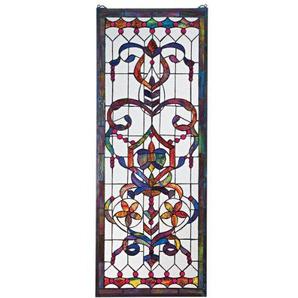 Design Toscano TF5005 Stained Glass Panel - Delaney Manor Buntglas-Fenster Behang - Fensterbehandlungen