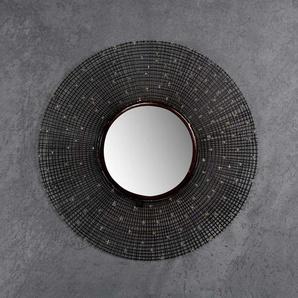 Design Wandspiegel in Kupferfarben Metall rund