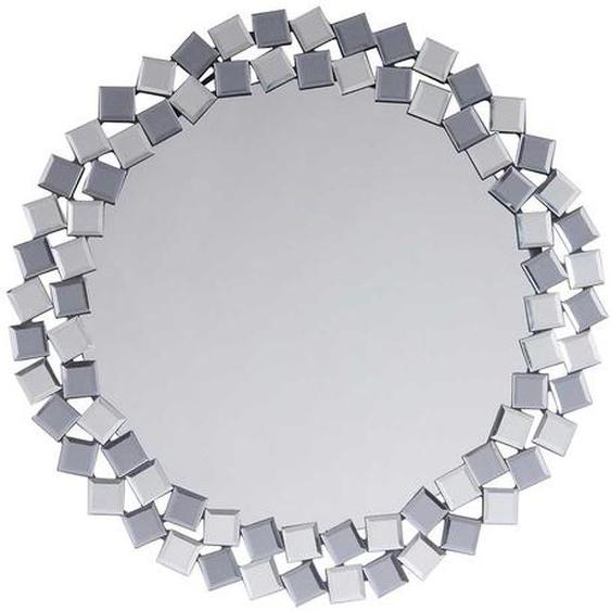 Design Wandspiegel in Silberfarben rund