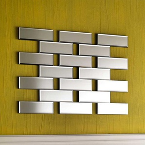 Design Wandspiegel in Ziegel Optik 100 cm breit