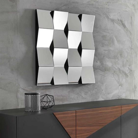 Design Wandspiegel quadratisch 75 cm breit