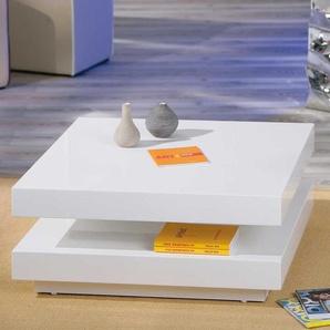 Design Wohnzimmertisch in Weiß Hochglanz modern