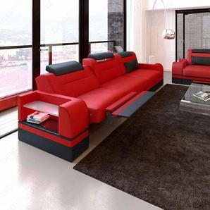 Designer Couchgarnitur Parma in Leder mit 3er und 2er