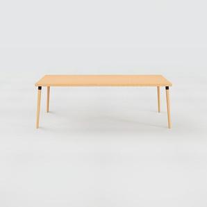 Designer Esstisch Massivholz Buche, Holz - Individueller Designer-Massivholztisch: Einzigartiges Design - 220 x 75 x 90 cm, Modular