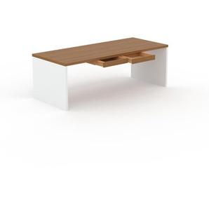 Designer Esstisch Massivholz Eiche - Individueller Designer-Massivholztisch: mit 2 Schublade/n - Hochwertige Materialien - 220 x 75 x 90 cm