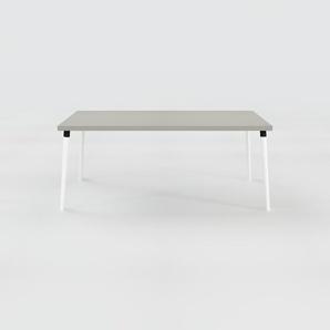 Designer Esstisch Massivholz Grau - Individueller Designer-Massivholztisch: Einzigartiges Design - 180 x 75 x 90 cm, Modular