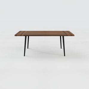 Designer Esstisch Massivholz Nussbaum, Holz - Individueller Designer-Massivholztisch: Einzigartiges Design - 200 x 75 x 90 cm, Modular
