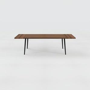 Designer Esstisch Massivholz Nussbaum, Holz - Individueller Designer-Massivholztisch: Einzigartiges Design - 260 x 75 x 90 cm, Modular