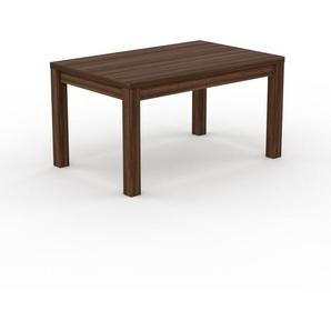 Designer Esstisch Massivholz Nussbaum - Individueller Designer-Massivholztisch: mit Tischrahmen - Hochwertige Materialien - 140 x 76 x 90 cm, Modular