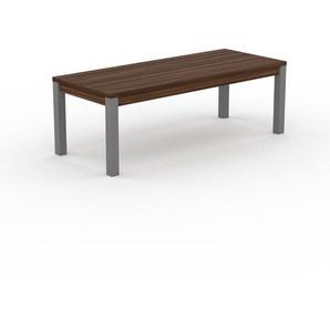 Designer Esstisch Massivholz Nussbaum - Individueller Designer-Massivholztisch: mit Tischrahmen - Hochwertige Materialien - 220 x 76 x 90 cm, Modular