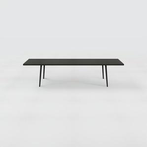 Designer Esstisch Massivholz Schwarz - Individueller Designer-Massivholztisch: Einzigartiges Design - 320 x 75 x 90 cm, Modular