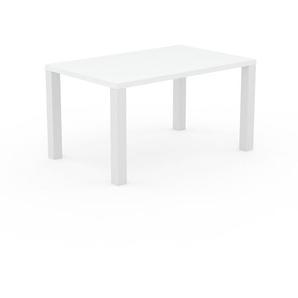 Designer Esstisch Massivholz Weiß - Individueller Designer-Massivholztisch: Einzigartiges Design - 140 x 76 x 90 cm, Modular