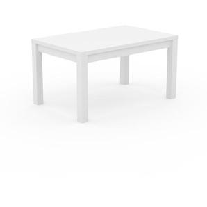Designer Esstisch Massivholz Weiß - Individueller Designer-Massivholztisch: mit Tischrahmen - Hochwertige Materialien - 140 x 76 x 90 cm, Modular