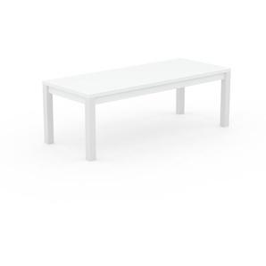 Designer Esstisch Massivholz Weiß - Individueller Designer-Massivholztisch: mit Tischrahmen - Hochwertige Materialien - 220 x 76 x 90 cm, Modular