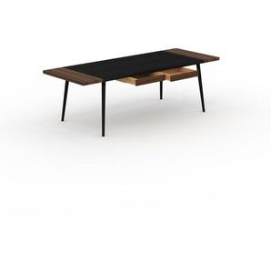Designer Esstisch Massivholz Wenge - Individueller Designer-Massivholztisch: mit 2 Schublade/n - Hochwertige Materialien - 240 x 75 x 90 cm