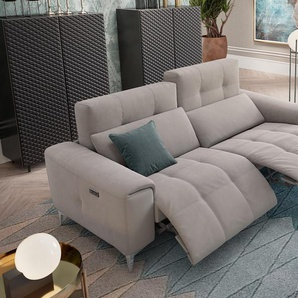 Designer Stoff Sofa SALENTO 3-Sitzer Relax Couch Relaxcouch