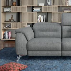 Designer Stoffcouch 2-Sitzer GANDINO Relaxfunktion