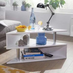 Designercouchtisch in Weiß 85 cm breit