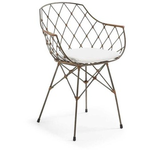 Designerstuhl in Anthrazit Metall modern (2er Set)