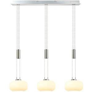 DesignLive LED-Pendelleuchte, Weiß, Alu, Eisen, Stahl & Metall