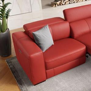 Designsofa BOVINO 3-Sitzer Sofagarnitur Echtleder Couch