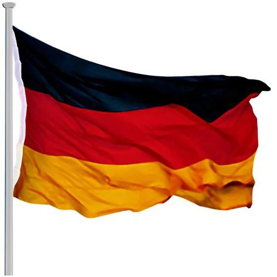 Deuba Fahnenmast Alu 650 cm inkl. Deutschland Flagge