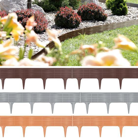 Deuba Rasenkante grau 2er Set 78cm elastisch witterungsbeständig