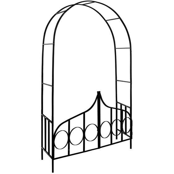 Deuba Rosenbogen mit verriegelbarer Eingangstür 240x140x40 cm