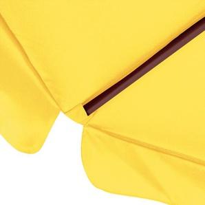 Deuba Sonnenschirm aus Holz - Ø 330cm Gelb
