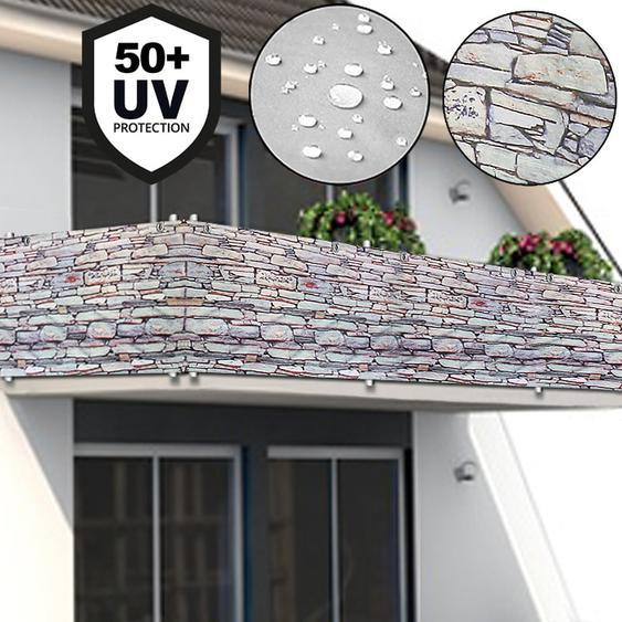 Deuba Windschutz UV-Schutz 50+ Betonoptik 5m