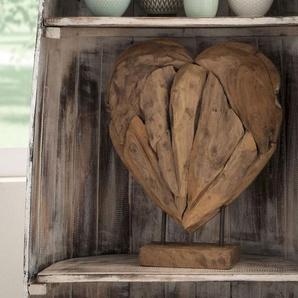 die Faktorei Deko-Herz auf Ständer aus Teakholz