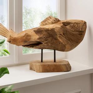 die Faktorei Unikat Deko-Fisch aus Teak-Holz