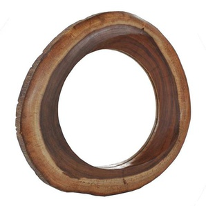 Dielenspiegel aus Suar Massivholz rund