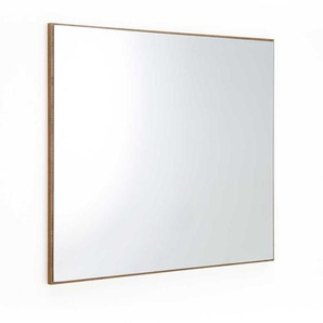 Dielenspiegel mit minimalem Rahmen in Wildeiche Optik 70 cm hoch