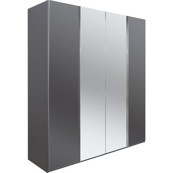 Dieter Knoll Falttürenschrank 2 -türig Grau , Holzwerkstoff , 6 Fächer , 200x223x62 cm