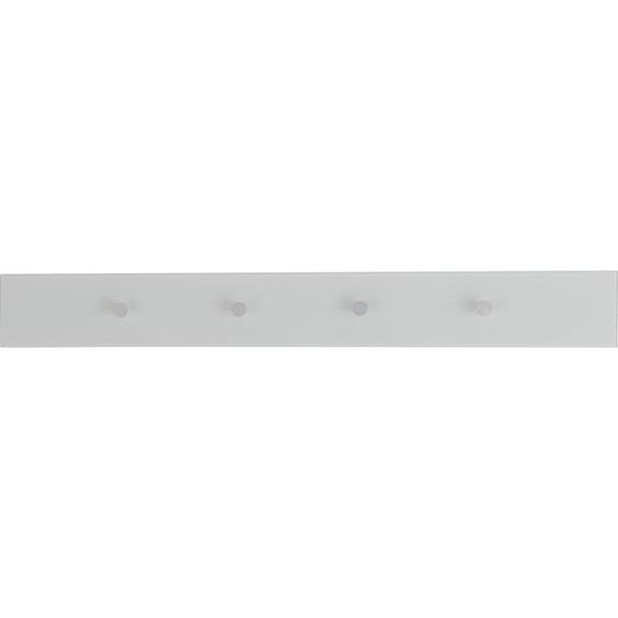 Dieter Knoll Hakenleiste Weiß, Silber , Metall, Glas , 98x12x5.5 cm
