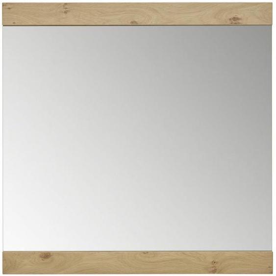 Dieter Knoll Spiegel , Glas , furniert , 84x83x2 cm